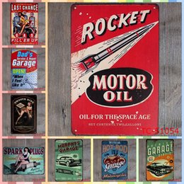 Wholesale motor oils online shopping - ROCKET MOTOR OIL Metal Tin Signs cm Room Home Decor Bedroom Wall Picture Decoration Painting Crafts Supplies Poster