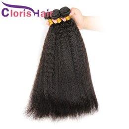 Discount marley hair - Top Peruvian Kinky Straight Hair 3 Bundles Coarse Yaki Human Hair Extensions Wholesale Light Yaki Straight Weaves Marley