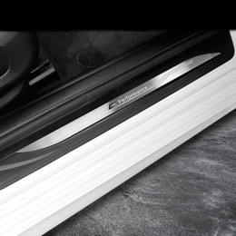 bmw door sills 2019 - Accessories Door Sill Scuff Plate Guards Car Door Sills Protector cover strips Stickers For BMW F20 F30 F34 E70 F25 F15