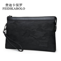 China FEIDIKABOLO Waterproof Nylon Men Wallets Handy Bags Mens Clutch Black Camouflage wallet Male Purse Cheaper Dollar Price Carteras cheap mens black leather clutch bags suppliers