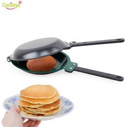 Muffin cake pan online shopping - Delidge Pc cm Porcelain Frying Pan Steel Non Stick Flip Pancake Machine Cake Muffin Breakfast Kitchen Baking Tools