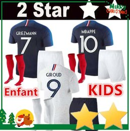 Red shoRts boys online shopping - top AAA New Stars Frances kids men griezmann maillot de foot kids men mbappe maillot foot Maillots de football soccer jersey