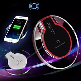 High Quality Qi Wireless Charger Crystal K9 Charging Power with Retail Package for S6 S7 Edge Plus S8 HTC