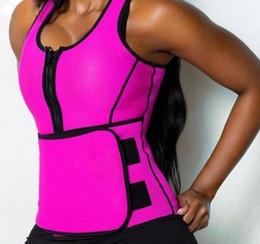 Wholesale Body Shaper Women Slimming Vest Thermo Neoprene Waist Trainer Neoprene Sauna Vest Adjustable Waist Trainer Body Shaper A128