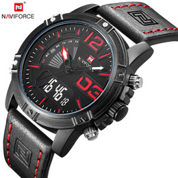 Quartz solar powered casual watches online shopping - NAVIFORCE Watches Men Fashion Casual Back Light Watches Quartz Wristwatches Army Military Clock Waterproof Relogio Masculino S921