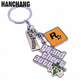 grand theft auto games 2019 - HANCHANG Jewelry Game PS4 GTA 5 Grand Theft Auto 5 Keychain For Men Fans Letter Grand Theft Autob  Keychain Key Buckles