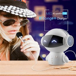 Discount bt portable speaker - Bestselling Robot SmartBluetooth Speaker With BT CSR 3.0 Plus Bass Music Calls Hands-free TF MP3 AUX And Power Bank Func