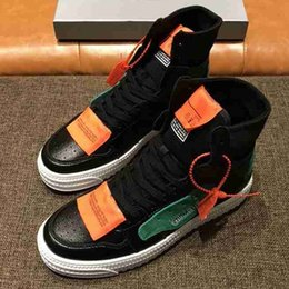 popping shoes 2019 - Brand men High top Cow leather Skateboard shoe Lace-Up Pop Star Ankle Marint boots fashion sneakers Flat Sport Casual Wh