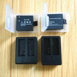 Discount sjcam battery - wholesale Original Accessories 1350 1050mAh Charger Li-ion Battery for S100 C10 C30 R SJCAM M10 SJ4000 SJ5000X H3 H9 Act