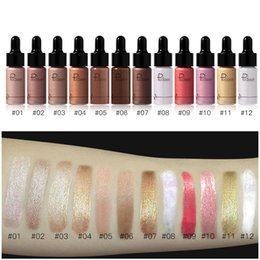 top highlighter makeup 2019 - Top quality Pudaier 12 Colors highlighter makeup concealer apply high gloss liquid to create 3D stereo makeup