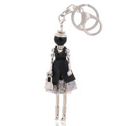 Discount cartoon dolls car - fashion keychains free shipping new cute doll key ring & key chain bag charms car pendant for women handbag kryrings