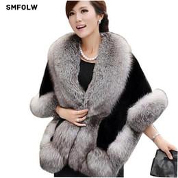 Fashion mink Fur shawl online shopping - 2017 fashion Mink Rabbit Autumn and Winter warm shawls New wedding Fox Fur Vest gilet outerwear women s Faux Fur coat