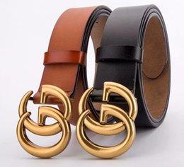 Discount mens belts top brands - TOP mens belt designer belts new brand designer belts mens high quality g buckle belts for men women genuine leather gif