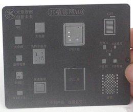 bga stencil iphone 2019 - IC Chip Ball Soldering Steel Net 3D BGA Reballing Stencil for iPhone A10 Logic Board CPU Chip Repair Tools