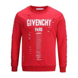 Wholesale 2019 latest design summer European Paris fans fashion men s high quality hole cotton T shirt casual sweater women s T shirt giv t shirt