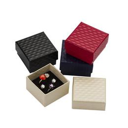 Wholesale cardboard necklace display online shopping - 7 cm Jewelry Cases Display Cardboard Necklace Earrings Ring Bracelet Sets Packaging Gift Box with Sponge