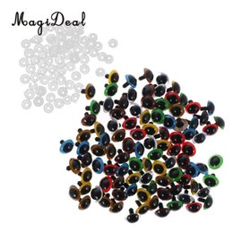 make handmade toys 2019 - MagiDeal 100Pcs Pack Mixed Color Plastic Safety Eyes with Washers for Dolls Animal Bear Making DIY Craft Handmade Toy 7K
