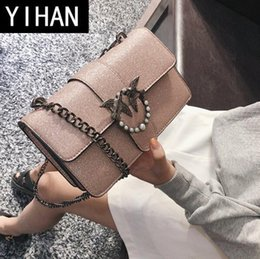 korean brand phones 2019 - Factory independent brand women bag fashion new leather swallow bag lap pure color women chain bag Korean version bright