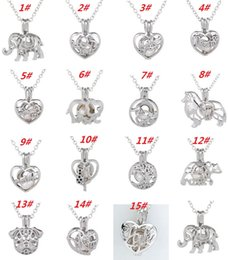 pearl tree life 2019 - New!!!New!New!Love Wish Pearl Cages Locket Necklace Hollow Out Oyster Freshwater Pearl Elephant Life Tree Love DIY Mothe