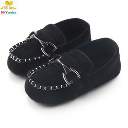 cute baby walking shoes 2019 - 3 Sizes 3 Colors Toddler Kids Baby Boy Soft Matte Leather Comfortable Shoes Learning Walk Cute And Sweet Design discount