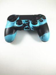 Discount ps4 silicone camouflage - high quality Camouflage Soft Silicone Guards Case Thicker Skin Protective Cover for PS4 Controller Dualshock 4