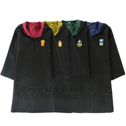 Discount 3xl cosplay costumes - Kids Cosplay Costumes Robes Tie Gryffindor Ravenclaw clothes Mantle Slytherin Hufflepuff clothing Men Women Cloaks