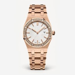 Chinese  2018 New Fashion Style Women Watch Lady Watch With Big Dial Rose Gold Diamond Steel Bracelet Luxury Watch High Quality relogies for women manufacturers