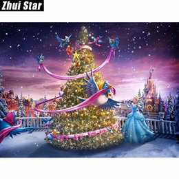 Princess mosaic online shopping - 5D DIY Diamond Painting Princess Christmas Gift Bird Embroidery Square Diamond Painting Cross Stitch Rhinestone Mosaic Painting