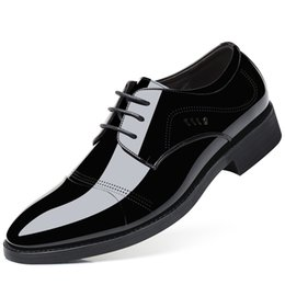 Discount popping shoes - Pop Nice Big Size Men Leather Shoes Men Lace-Up Pointed-Toe Business Dress Shoes Large Slip-On Casual Office Surface Fla