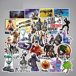 Discount ps4 pads - 45 Pcs lot Game Fortnite Graffiti Stickers For Computer PS4 Pad Phone Laptop TV Fridge Bicycle Pvc Waterproof Decal Stic