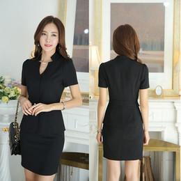 women s summer business suits 2019 - Uniform Design Business Women Suits 2015 Summer Slim Fashion Ladies Office Career Blazers Skirt Suits Jackets And Skirt