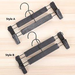 Remote contRolled undeRweaR online shopping - 100pcs Plastic Black Hanger For Lingerie Underwear Anti skidding Clothing Pants Skirt Clip Hangers Rack ZA4852