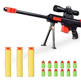 Discount children guns bullet - Sniper Rifle Gun Soft Foam Bullet Guns Toy Kids Blaster Semi Automatic Toys Style and Plastic Material for Children Kid