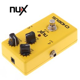 lowest electric guitars 2019 - NUX CH-3 Guitar Electric Effect Pedal Chorus Low Noise BBD High Quality True Bypass Yellow cheap lowest electric guitars
