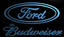 ford neon bar sign 2019 - LS1960-b-Ford-Cars-Budweisers-Bar-Neon-LED-Light-Sign Decor Free Shipping Dropshipping Wholesale 8 colors to choose