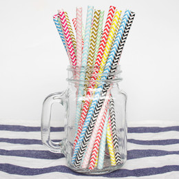Wedding cup set online shopping - Bulk set Wave Biodegradable Paper Straws Kitchen Accessories Party Supplies Wedding Decoration Home Decor Gadgets for Tumblers Cups