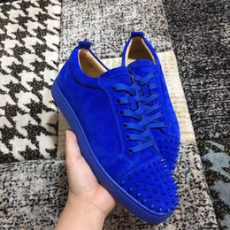 Discount luxury brands online - Discount online Luxury Designer Brand Mens & Womens Junior Red Bottoms Sneakers Shoes Flats Shoes Wedding Party
