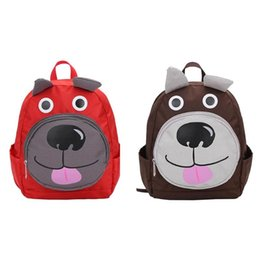 Chinese  Cartoon Cute Kids Dog Backpacks Kids Adjustable Zipper Nylon Backpack Baby Shoulder Kindergarten School Bag Birthday Gifts manufacturers