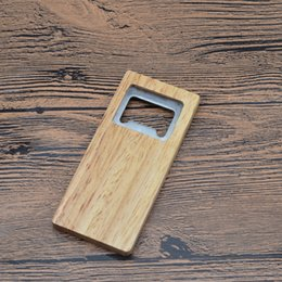 Lightweight steeLs online shopping - Fine Quality Beer Bottle Opener Wooden Handle Corkscrew Stainless Steel Square Openers Eco Friendly Anti Scald Lightweight For Gift sr jj