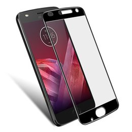 China QAZ Maggie sFor MOTO Z2 Play Glass Tempered Glass G+ Full Glue Protective For MOTO Z2 Play Screen Protector cheap moto g tempered suppliers