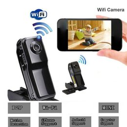 mini camera for android 2019 - Mini MD81 Camera WIFI IP Camera DV DVR Wireless Camcorder Webcam Sports Cam Motion Detection for iOS Android System PK M