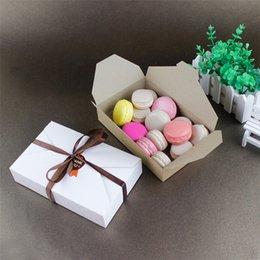 kraft envelope box 2019 - Kraft Paper Gift Box Envelope Type Cardboard Boxes Package for Macaron Wedding Christmas Party Cookie Boxes cheap kraft
