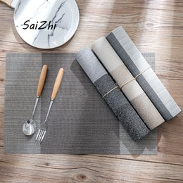 slipped disc 2019 - Dinner Placemat Pvc Dining Table Mat Disc Pads Bowl Pad Coasters Kitchen Accessories Home Table Decor Cloth Slip-Resista