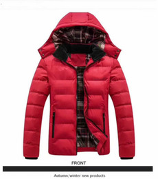 Wholesale 02 winter new down cotton men s winter thick warm sports jacket youth hooded jacket M XL