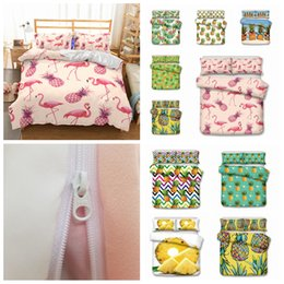 Duvet quilts online shopping - 10styles Flaming painapple printed Kids Bedding Set Duvet Cover Quilt Cover Pillowcase Bedding Supplies set FFA682