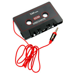 Chinese  Universal Car Cassette Tape Adapter Tape Converter For iPod For iPhone MP3 4 AUX Cable CD Player 3.5mm Jack Plug manufacturers