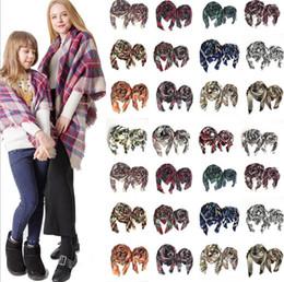 Pashmina square scarves online shopping - Winter Scarf Women Parent Child square plaid Scarf Ladies Wraps Shawls Adult And Children Scarves Warm Pashmina KKA6025