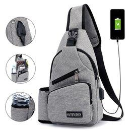 Waterproof sling pack online shopping - USB Charging Chest Bag Waterproof Casual Crossbody Bag Mens Travel Anti Theft Chest Packs Sling Messenger Shoulder Unisex