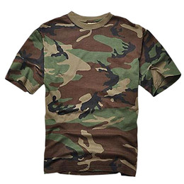 Discount camouflage tactical shirt - Summer T-shirt Men Breathable Army Tactical Combat T Shirt Military Dry Camo Camp Tees JG Camouflage