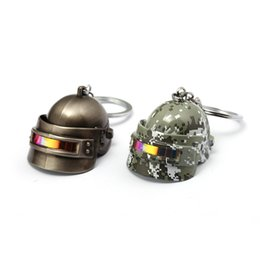 China Playerunknown's Battlegrounds PUBG Keychain New 3D laser Helmet Pendant Metal Key Ring Car Key Chain Game Jewelry supplier new games car suppliers